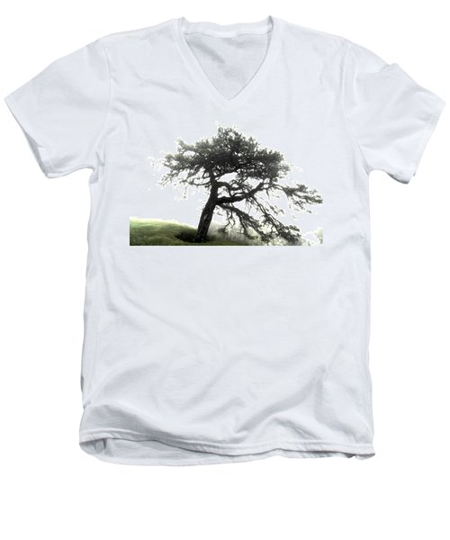 Men's V-Neck T-Shirt featuring the photograph Tree by Alex Grichenko