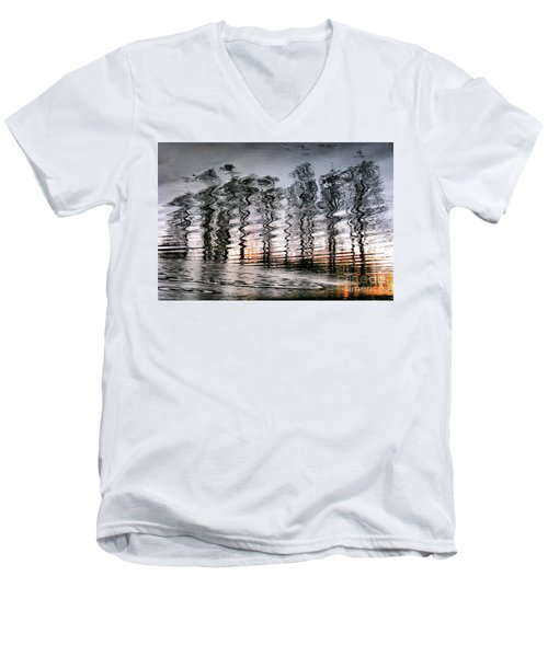 Tree And Reflection Men's V-Neck T-Shirt