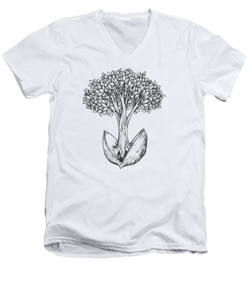 Tree From Seed Men's V-Neck T-Shirt