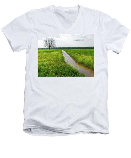 Tree In Field 2 Men's V-Neck T-Shirt