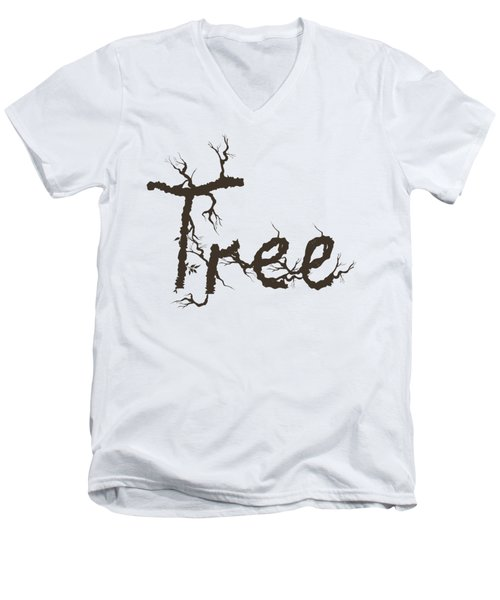Tree Men's V-Neck T-Shirt by Martina Fagan