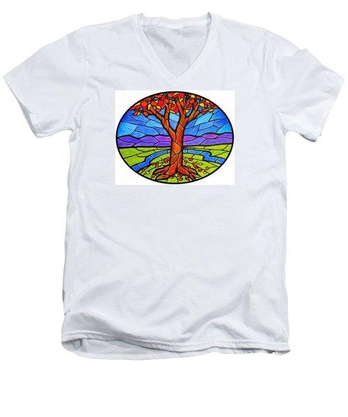 Tree Of Grace - Autumn Men's V-Neck T-Shirt