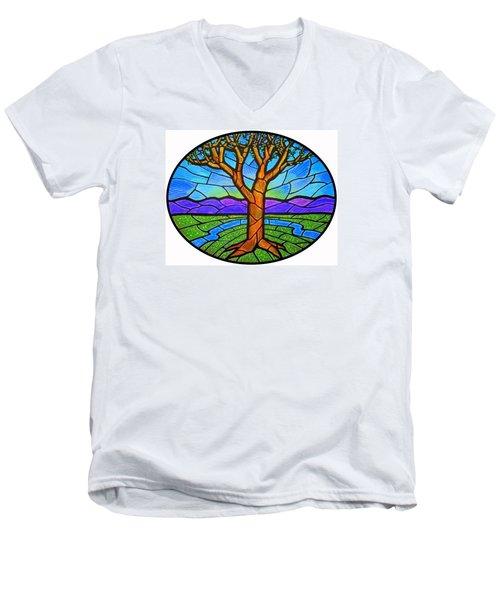 Tree Of Grace - Spring Men's V-Neck T-Shirt