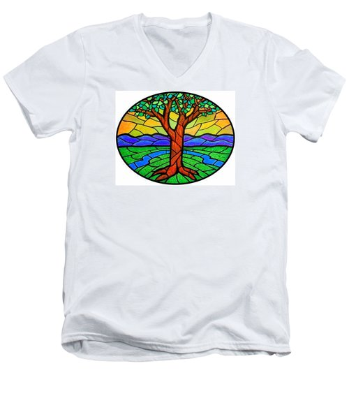 Tree Of Grace - Summer Men's V-Neck T-Shirt