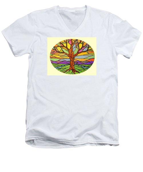 Tree Of Grace 2 Men's V-Neck T-Shirt