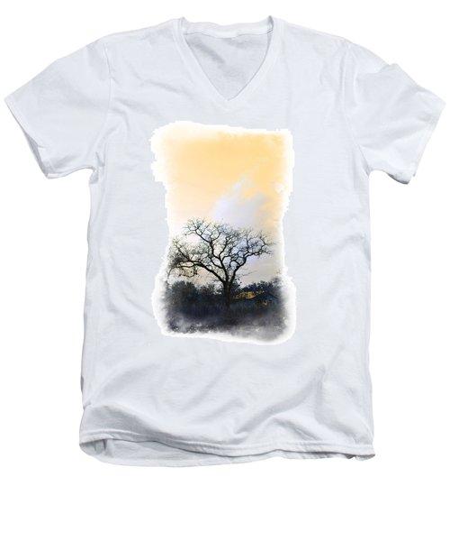Men's V-Neck T-Shirt featuring the photograph Tree Of La Vernia II by Carolina Liechtenstein