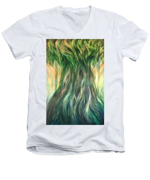 Tree Of Wisdom Men's V-Neck T-Shirt