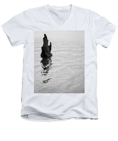 Tree Reflections, Rest In The Water Men's V-Neck T-Shirt
