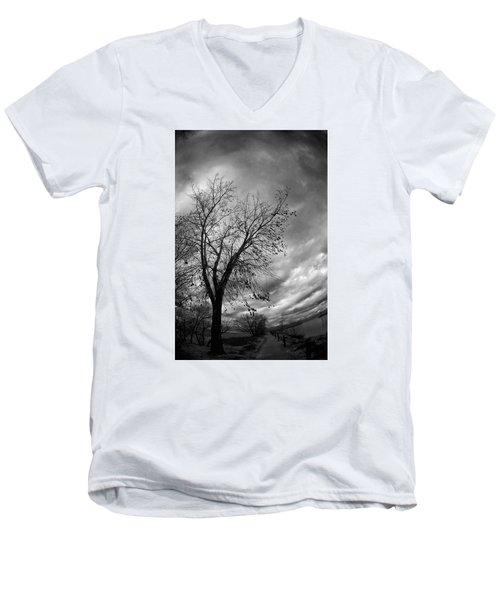 Tree 4 Men's V-Neck T-Shirt by Simone Ochrym