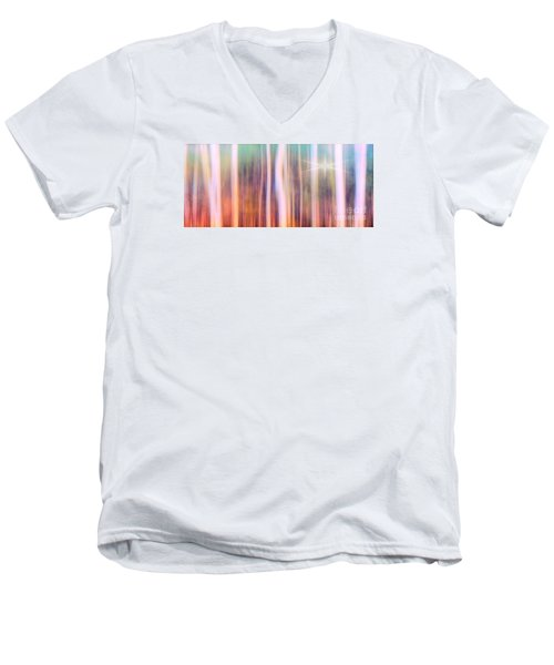 Men's V-Neck T-Shirt featuring the photograph Tree Star Abstract by Clare VanderVeen