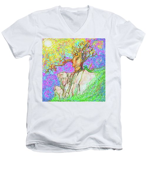 Tree Touches Sky Men's V-Neck T-Shirt