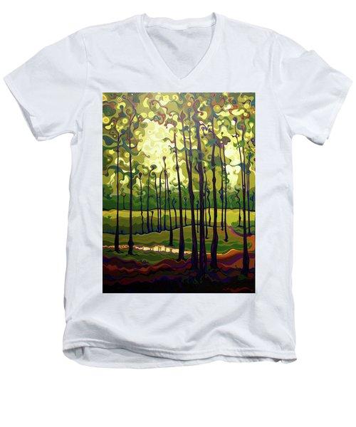 Treecentric Summer Glow Men's V-Neck T-Shirt