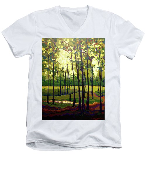 Treecentric Summer Glow Men's V-Neck T-Shirt