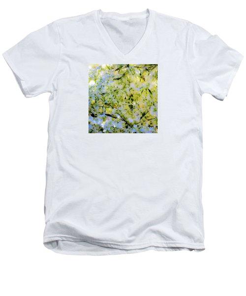 Trees And Leaves Men's V-Neck T-Shirt