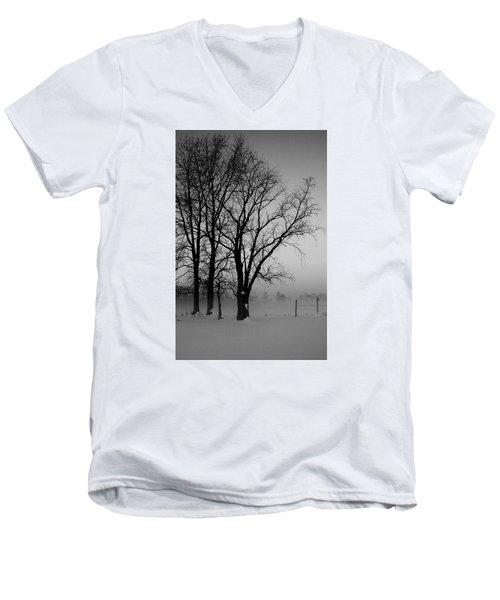 Trees In The Fog Men's V-Neck T-Shirt