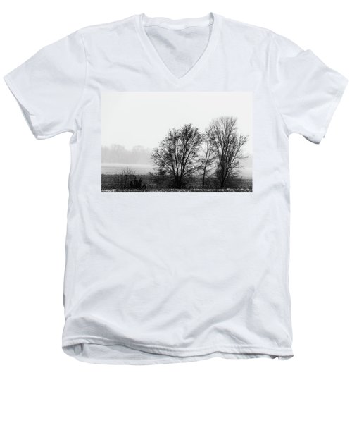 Trees In The Mist Men's V-Neck T-Shirt