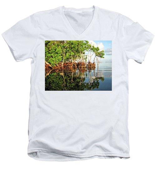 Trees In The Sea Men's V-Neck T-Shirt