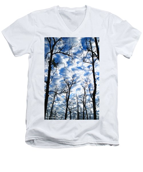 Men's V-Neck T-Shirt featuring the photograph Trees In The Sky by Shari Jardina