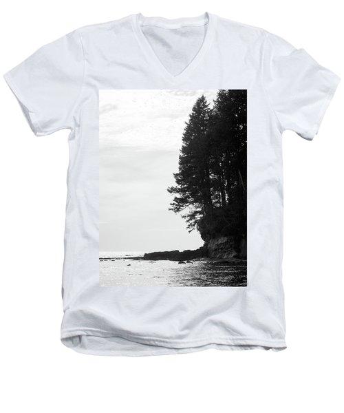 Trees Over The Ocean Men's V-Neck T-Shirt