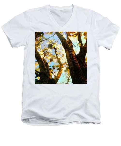 Treetop Abstract-look Up A Tree Men's V-Neck T-Shirt