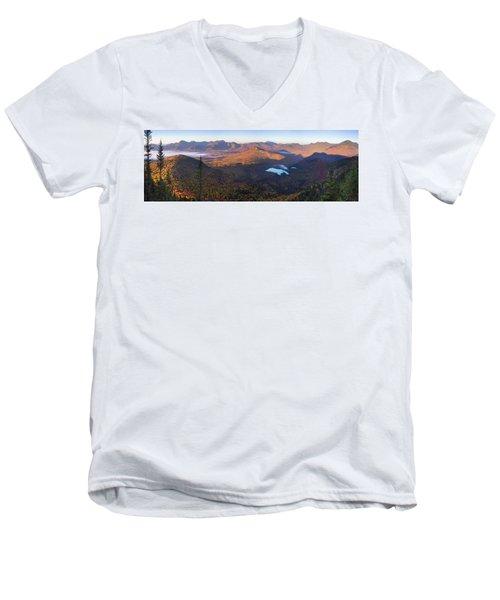 Tremont Autumn Morning Panorama Men's V-Neck T-Shirt