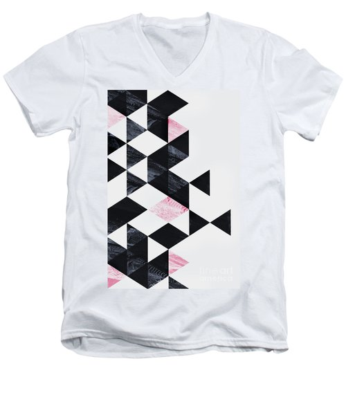 Triangle Geometry Men's V-Neck T-Shirt