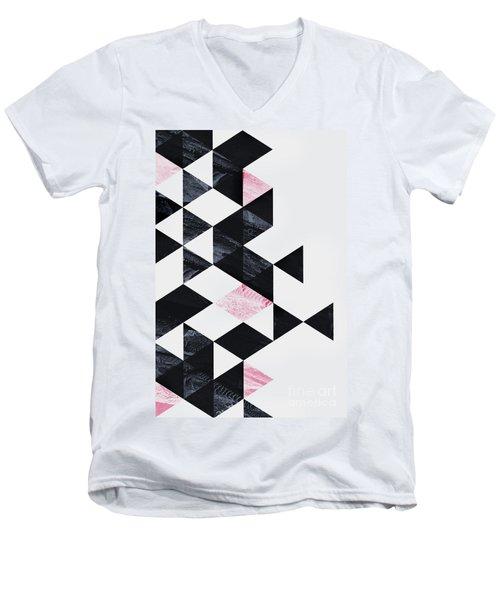 Triangle Geometry Men's V-Neck T-Shirt