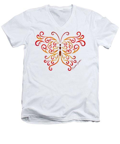 Tribal Butterfly Men's V-Neck T-Shirt