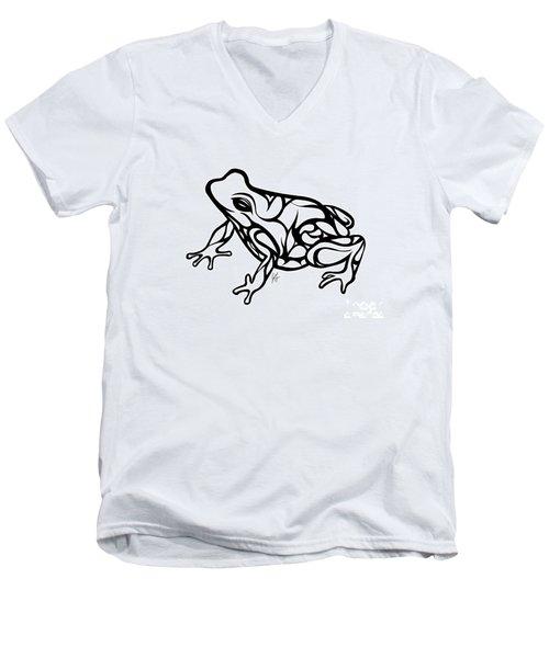 Tribal Ribbet  Men's V-Neck T-Shirt