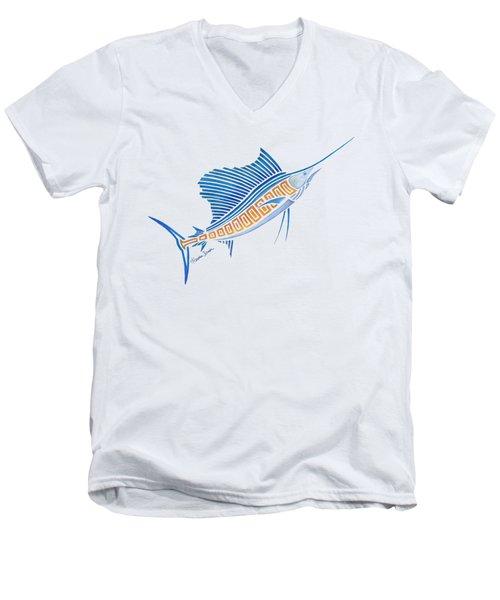 Tribal Sailfish Men's V-Neck T-Shirt