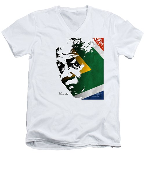 tribute to Nelson Mandela Men's V-Neck T-Shirt