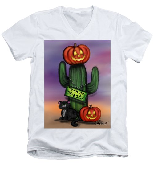 Trick Or Treat Cactus Men's V-Neck T-Shirt