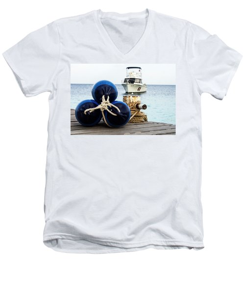 Men's V-Neck T-Shirt featuring the photograph Triple Bumpers by Jean Noren