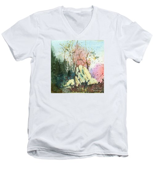 Triptych Panel 1 Men's V-Neck T-Shirt