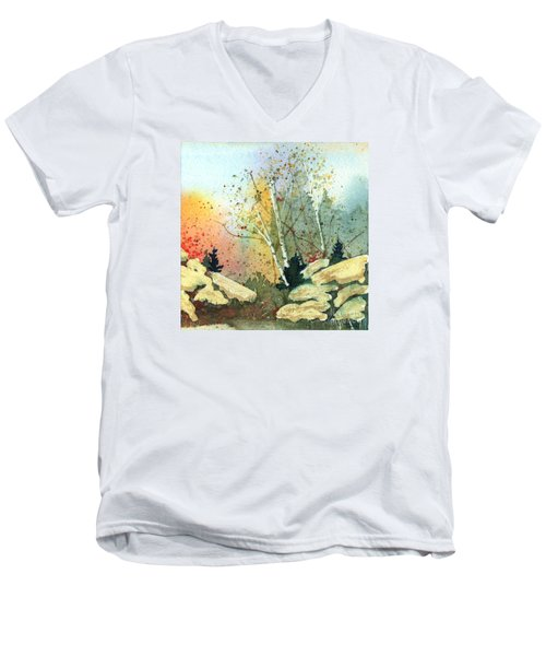 Triptych Panel 3 Men's V-Neck T-Shirt