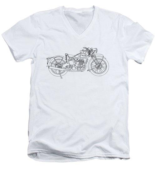 Triumph Laverda Men's V-Neck T-Shirt by Stephen Brooks