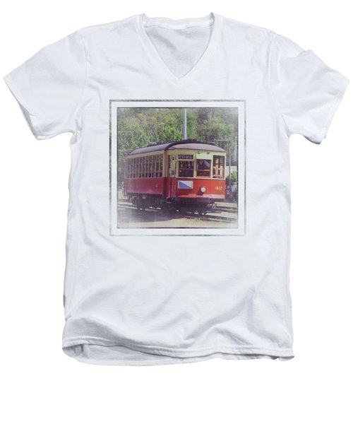 Trolley Car 42 Men's V-Neck T-Shirt