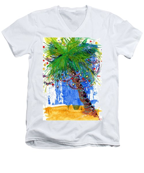 Tropical Christmas  Men's V-Neck T-Shirt