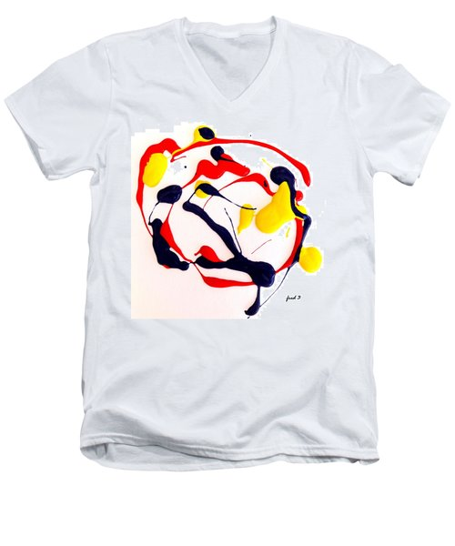 Tropical Fish Men's V-Neck T-Shirt by Fred Wilson