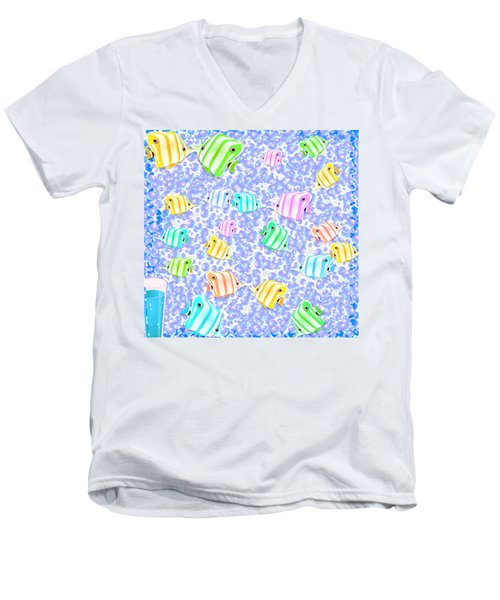 d9ac6427 Men's V-Neck T-Shirt featuring the digital art Tropical Fish by Jacqueline  Smith
