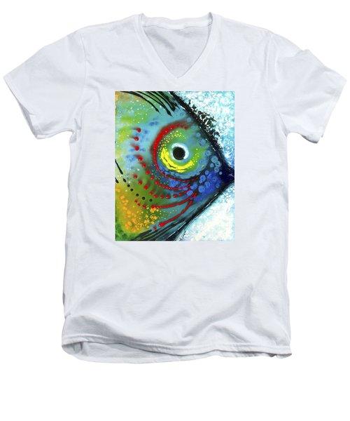Tropical Fish Men's V-Neck T-Shirt