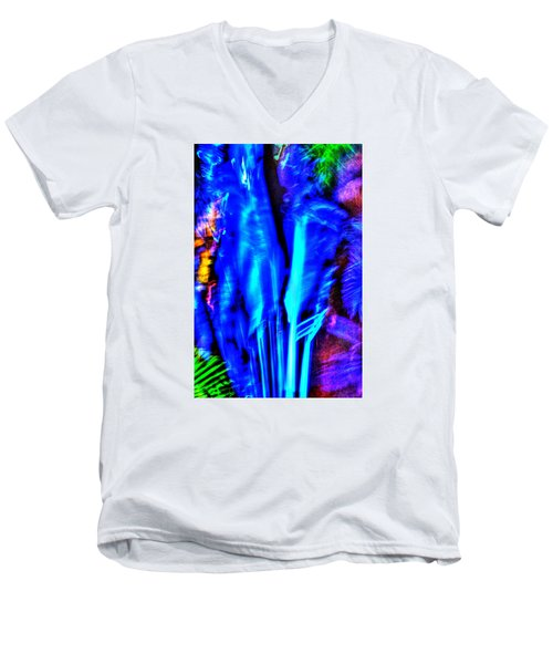 Men's V-Neck T-Shirt featuring the photograph Tropical Lightshow  by Richard Ortolano
