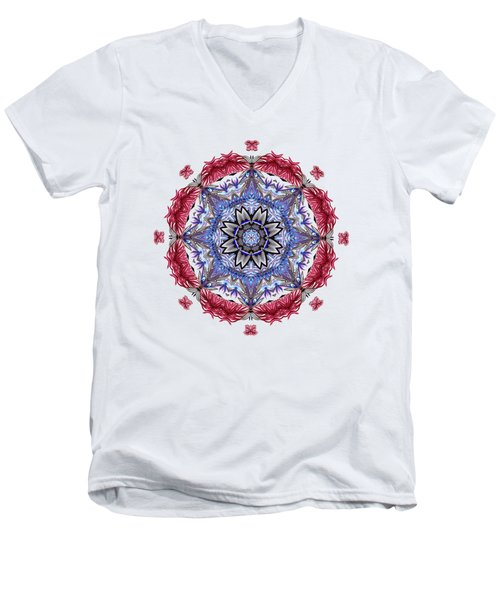 Tropical Mandala By Kaye Menner Men's V-Neck T-Shirt