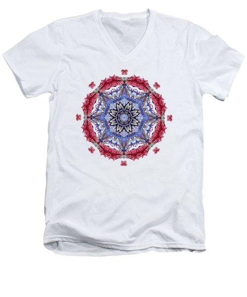 Tropical Mandala By Kaye Menner Men's V-Neck T-Shirt
