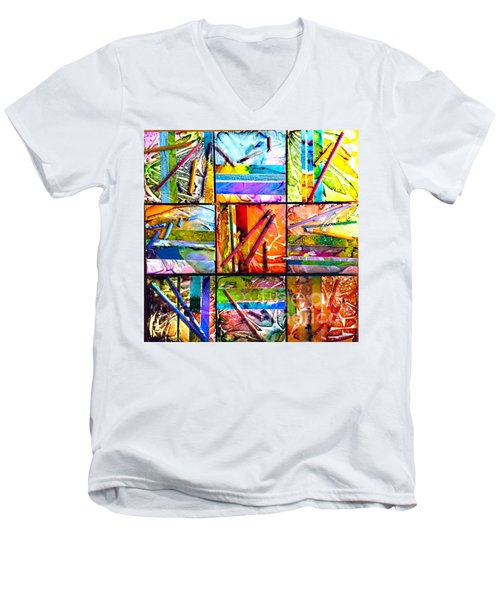 Tropical Stix Men's V-Neck T-Shirt by Alene Sirott-Cope