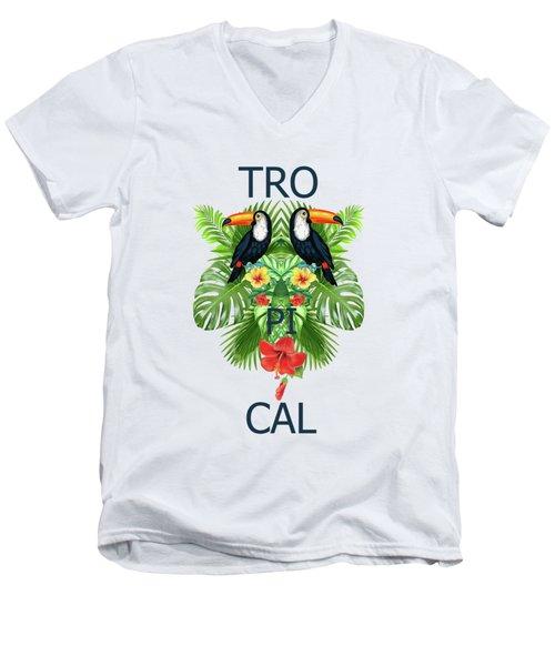 Tropical Summer  Men's V-Neck T-Shirt by Mark Ashkenazi