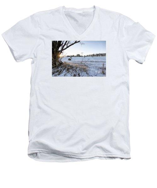 Trossachs Scenery In Scotland Men's V-Neck T-Shirt by Jeremy Lavender Photography