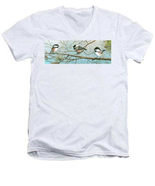 Troublesome Trio Men's V-Neck T-Shirt by Mike Brown