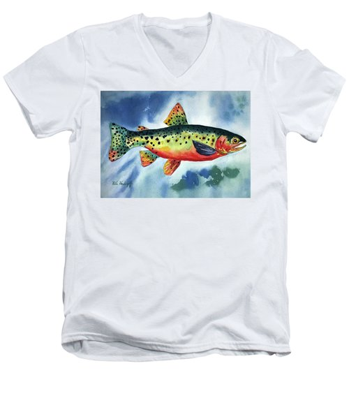 Trout Men's V-Neck T-Shirt