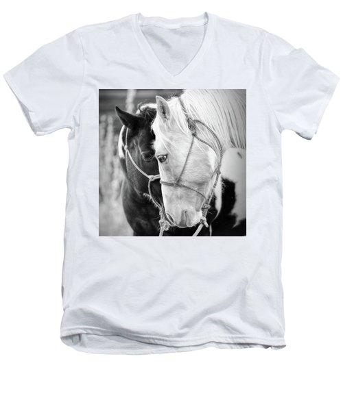 True Friends Men's V-Neck T-Shirt by Sharon Jones